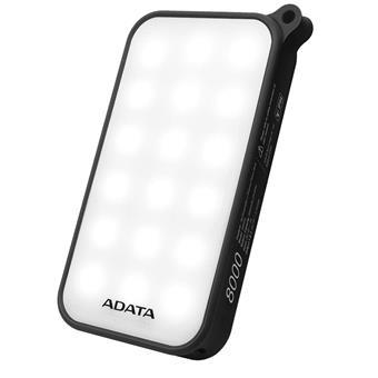 ADATA D8000L Power Bank 8000mAh černá LED svítilna
