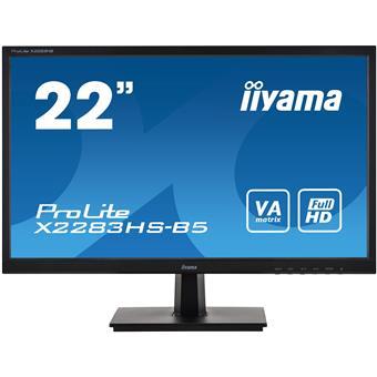 "22"" iiyama X2283HS-B5: VA, FullHD@75Hz, 250cd/m2, 4ms, VGA, HDMI, DP, černý"