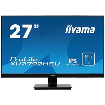 """27"""" iiyama XU2792HSU-B1: IPS, FullHD@75Hz, 250cd/m2, 4ms, VGA, HDMI, DP, USB, černý"""