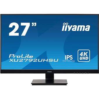 "27"" iiyama XU2792UHSU-B1: IPS, 4K, 300cd/m2, 4ms, HDMI, DP, DVI, USB, černý"