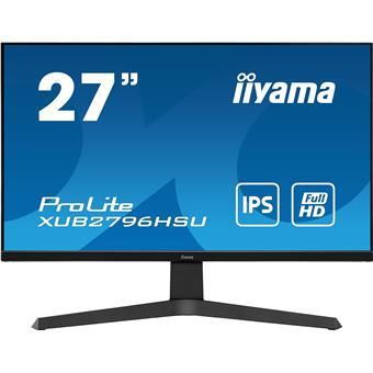 """27"""" iiyama XUB2796HSU-B1: IPS, FullHD@75Hz, 1ms, HDMI, DP, USB, FreeSync, height, pivot, černý"""