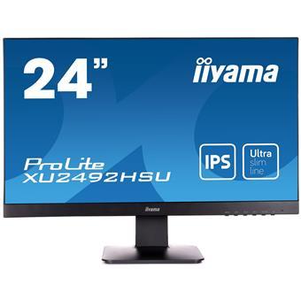 """24"""" LCD iiyama XU2492HSU-B1 - IPS,FullHD,5ms,250cd/m2, HDMI,DP,VGA,repro"""