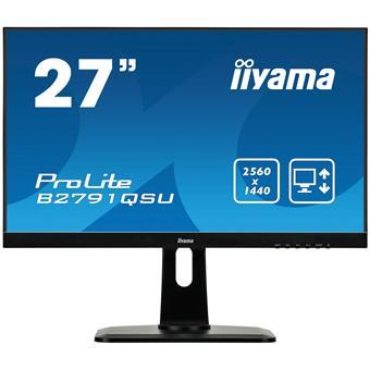 """27"""" iiyama B2791QSU-B1 - TN,WQHD,1ms,350cd/m2, 1000:1,16:9,DVI,HDMI,DP,USB,repro,výškov.nast.,pivot"""