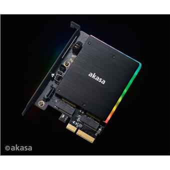 AKASA adaptér M.2 do PCIex s chladičem RGB