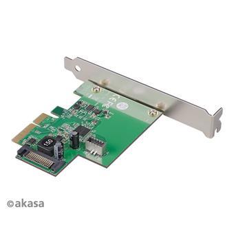 AKASA PCIe karta USB 3.2 Gen 2 interní konektor