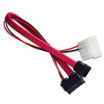 AKASA - slimline SATA na SATA data a power - 40 cm