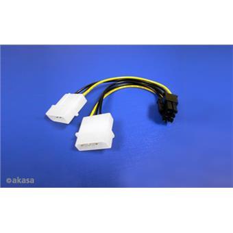 AKASA - 4-pin Molex na 6-pin ATX PCIex adaptér