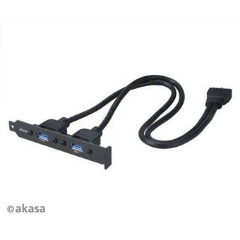 AKASA - 2 x USB 3.0 PCI záslepka