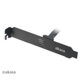 AKASA - USB 3.1 gen 2 Typ C PCI záslepka