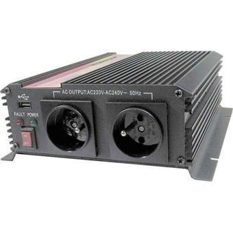 Měnič napětí Carspa CAR1KU-12 12V/230V+USB 1000W, modifikovaná sinus
