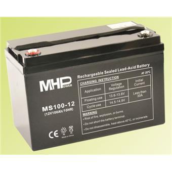 Pb akumulátor MHPower VRLA AGM 12V/100Ah (MS100-12