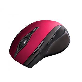 C-TECH myš WLM-11, černo-červená, bezdrátová, 2400DPI, 8 tlačítek, programovatelná, USB nano receiv.