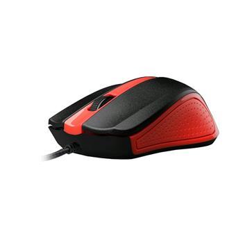 C-TECH Myš WM-01, červená, USB