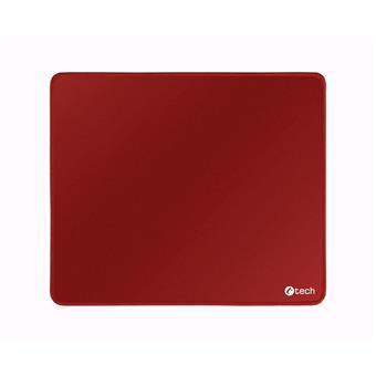Podložka pod myš C-TECH MP-01, červená, 320x270x4mm, obšité okraje