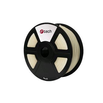 Tisková struna (filament) C-TECH, PLA, 1,75mm, 1kg, transparentní