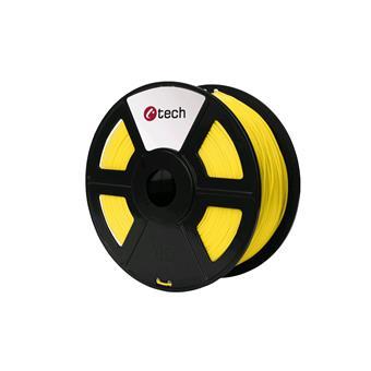 PETG filament žlutá C-TECH, 1,75mm, 1kg