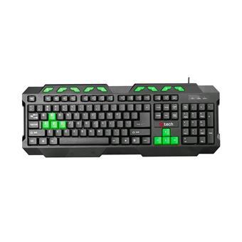 C-TECH GMK-102-G, USB, černo-zelená, multimed