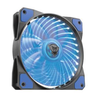 TRUST GXT 762B PC tichý LED ventilátor-black/blue