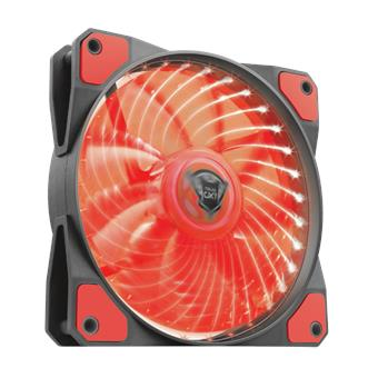 TRUST GXT 762B PC tichý LED ventilátor-black/red