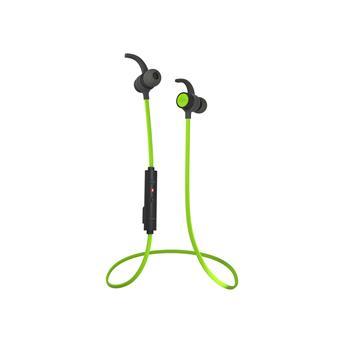 Sportovní bezdrátové sluchátka do uší Audictus Endorphine, BT 4.1, vodeodolné, černo-zelené