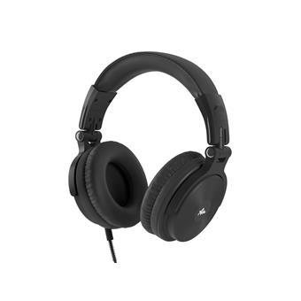 Náhlavní sluchátka s mikrofonem Audictus Voyager, skládací,černé