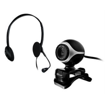 webcam+náhlavní sada TRUST Exis Chatpack