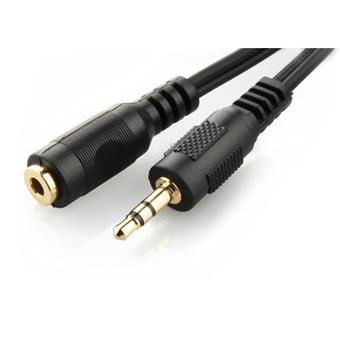 GEMBIRD 3.5 mm stereo jack, gold contacts, 5m, M/F