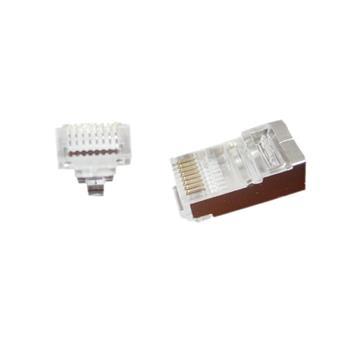 GEMBIRD Universal pass-through modular FTP plug 8P8C, 10 pcs