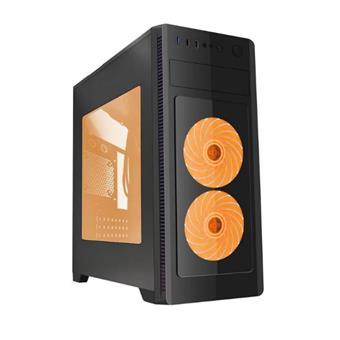 Gembird Computer case Midi Tower Fornax 1000 orange