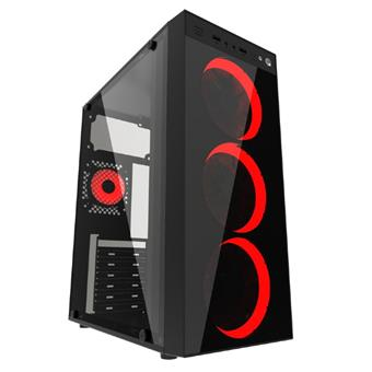 Gembird Midi tower case Fornax 1500R red