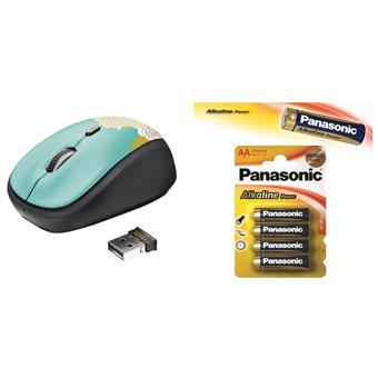 myš TRUST Yvi Wireless Mouse - flower + 4 AA baterie
