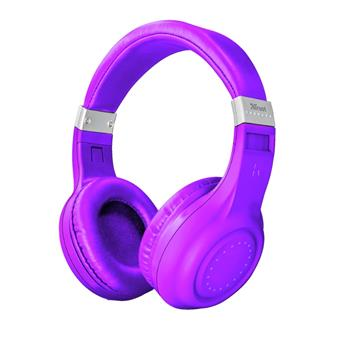 TRUST Dura Bluetooth wireless headphones - neon purple