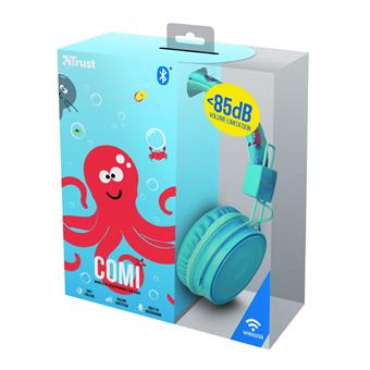 TRUST Comi Bluetooth Wireless Kids Headphones - blue