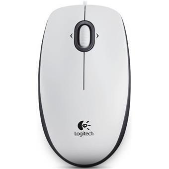 Myš Logitech B100 Optical USB Mouse, bílá