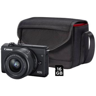 Canon EOS M200 černý M15-45S+SB130+16GB(VUK)