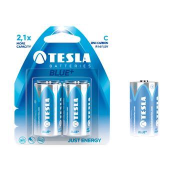 TESLA - baterie C BLUE+, 2ks, R14