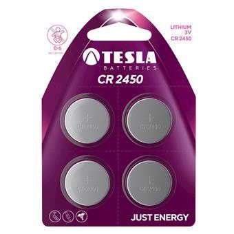 TESLA - baterie TESLA CR2450, 4ks, CR2450
