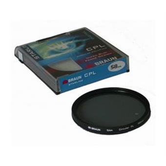 BRAUN C-PL polarizační filtr StarLine - 62 mm