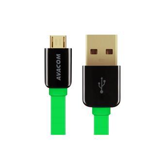 Kabel AVACOM MIC-120G USB - Micro USB, 120cm, zelená