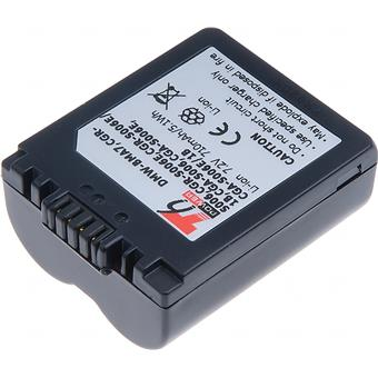 Baterie T6 power Panasonic DMW-BMA7, CGR-S006, CGR-S006E, CGA-S006, 710mAh, modrá