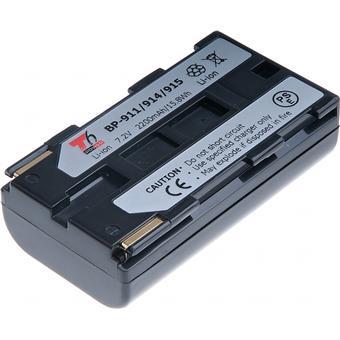 Baterie T6 power Canon BP-911, BP-914, BP-915, 2600mAh, 18,7Wh, černá