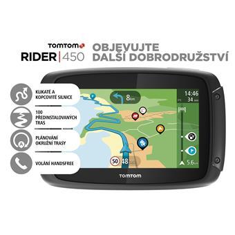 TomTom Rider 450 World pro motocykly Premium pack, LIFETIME mapy