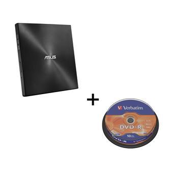 BUNDLE ASUS SDRW-08U7M-U BLACK + 2× M-Disk + Verbatim DVD-R 10cake