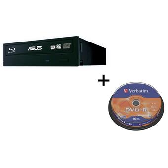 BUNDLE ASUS BW-16D1HT BLACK interní BD-RW + soft new + Verbatim DVD-R 10cake