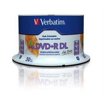VERBATIM DVD+R DL (8xPrintable, 8,5GB), 50 cake