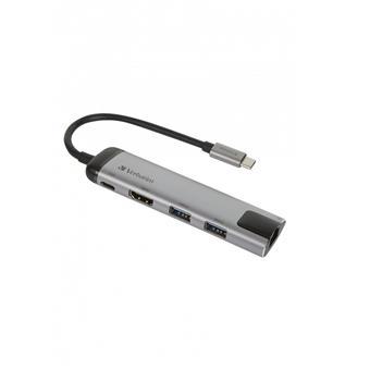 Verbatim USB-C dock,2x USB-A, HDMI, gigabitový ethernet