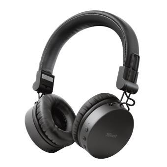 TRUST TONES bezdrátová sluchátka, černá