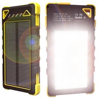 VIKING Solární outdoorová powerbanka Akula I 8000mAh, 20Led, Žlutá
