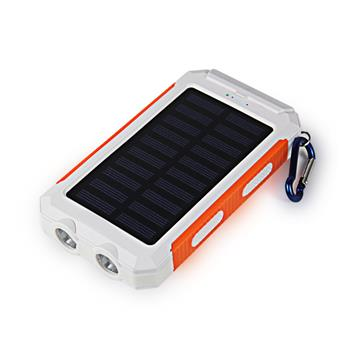 VIKING Solární Outdoorová Powerbanka Delta I 8000mAh, Bílo-Oranžová