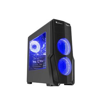Počítačová skříň Genesis Titan 800 BLUE MIDI (USB 3.0), 4 ventilátory s modrým podsvícením